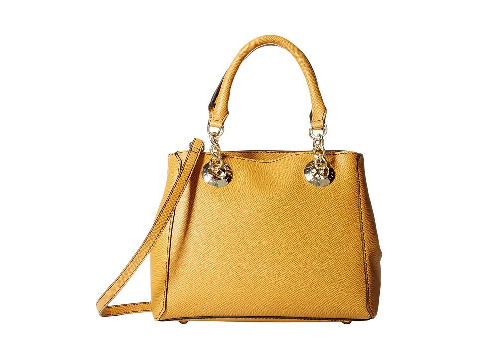London Fog - Barrow Satchel (Dark Mustard) Satchel Handbags