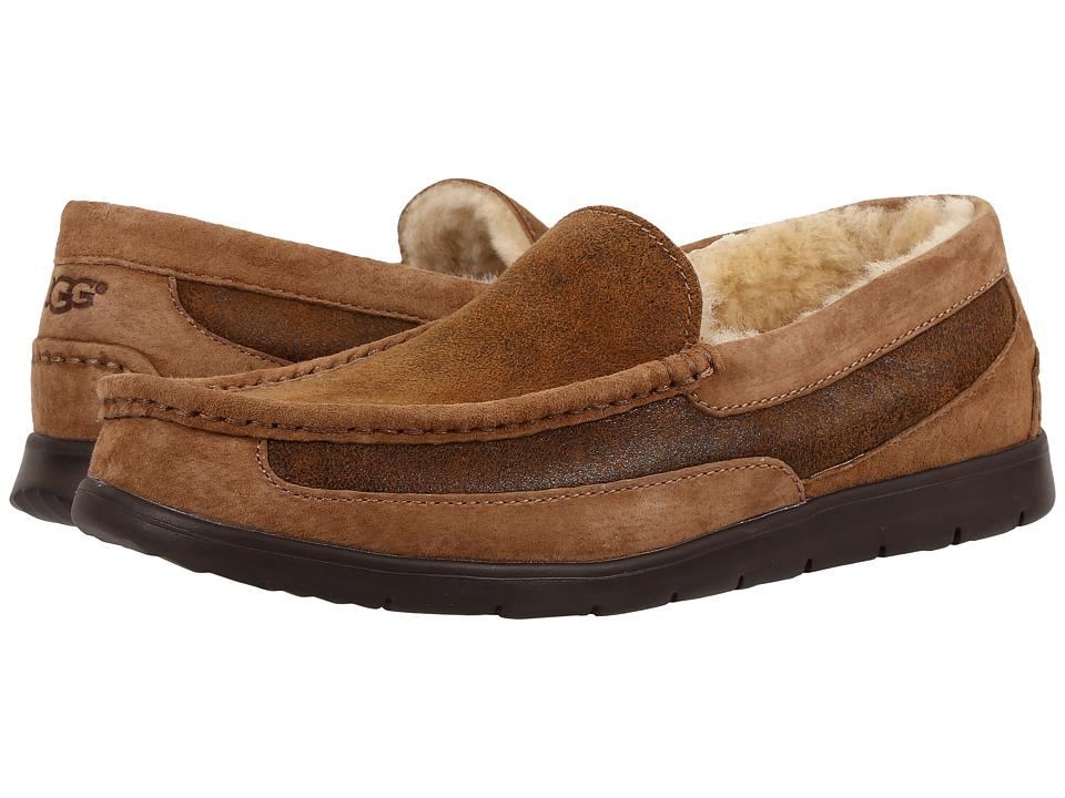 UGG - Fascot Bomber (Bomber Jacket Chestnut) Men's Slip on Shoes