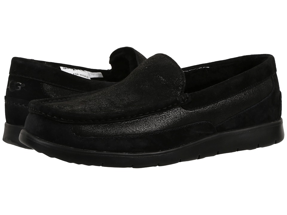 UGG - Fascot Bomber (Bomber Jacket Black) Men's Slip on Shoes
