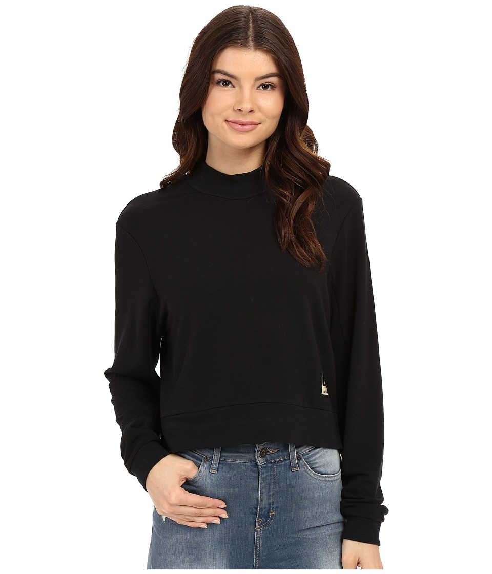 Bench Jess Glynne x Bench collaboration- New Eyes Overhead Mock Neck Sweatshirt (Jet Black) Women