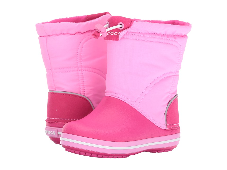 Crocs Kids - Crocband Lodge Point Boot (Toddler/Little Kid) (Candy Pink/Party Pink) Girls Shoes