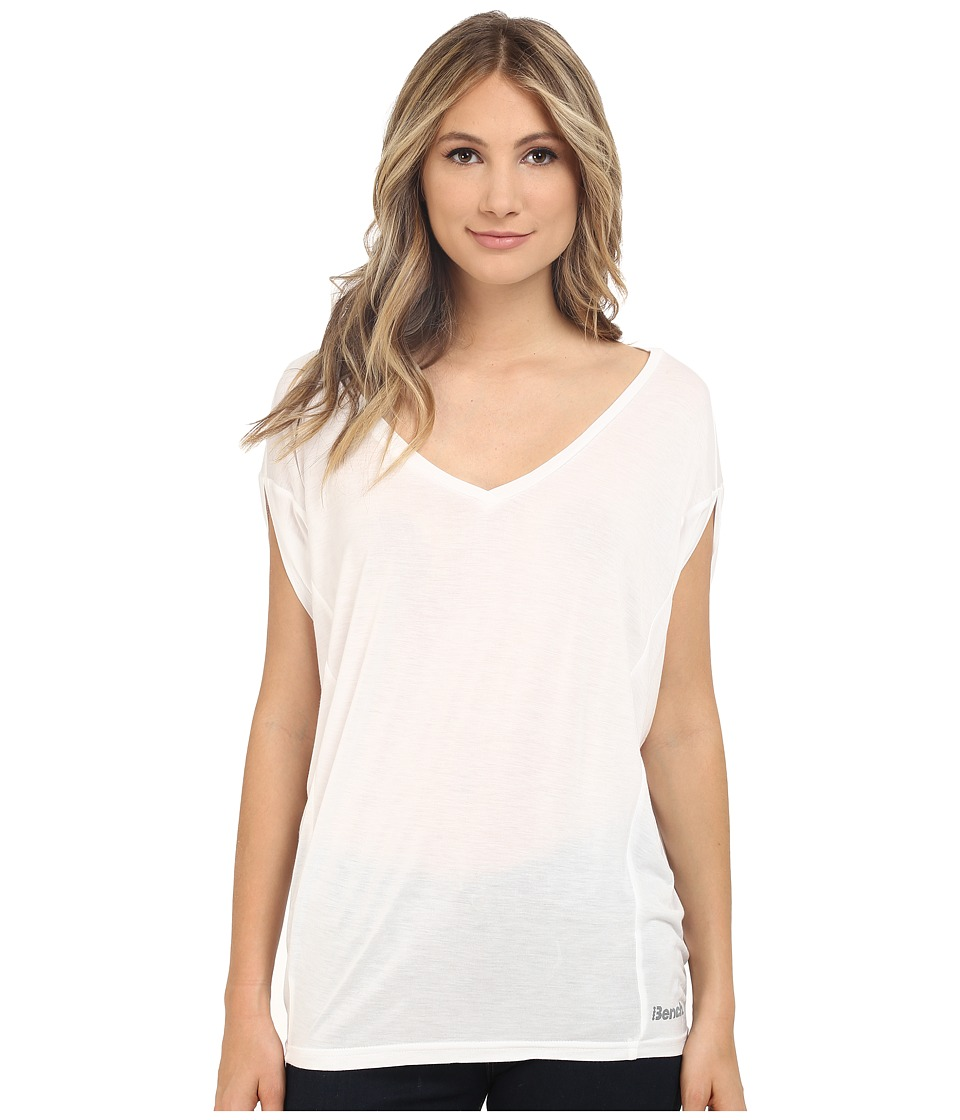 Bench - Amplize C Short Sleeve Top (Bright White) Women's Short Sleeve Pullover