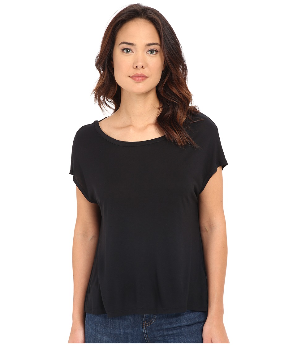 Bench - Spot Short Sleeve Top (Jet Black) Women's Short Sleeve Pullover