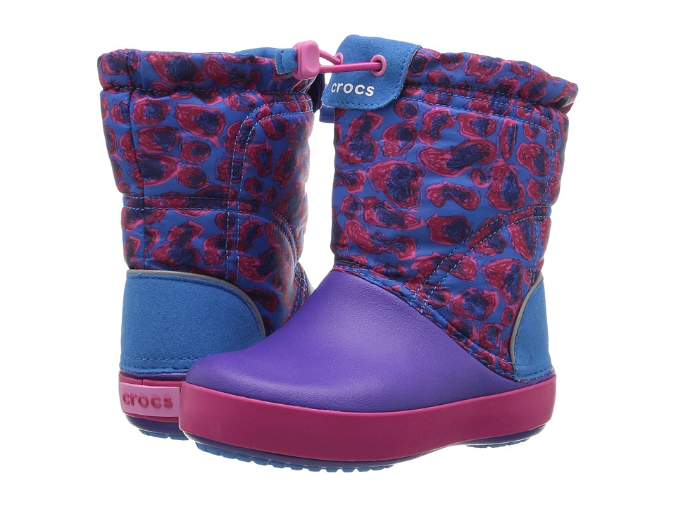 Crocs Kids - Crocband Lodge Point Graphic Boot (Toddler/Little Kid) (Leopard) Girls Shoes