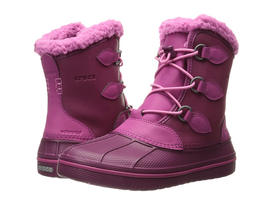 Crocs Kids - AllCast II Boot (Toddler/Little Kid) (Berry) Girls Shoes