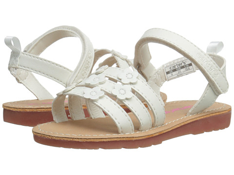 Carters - Alyssa (Toddler/Little Kid) (White) Girls Shoes