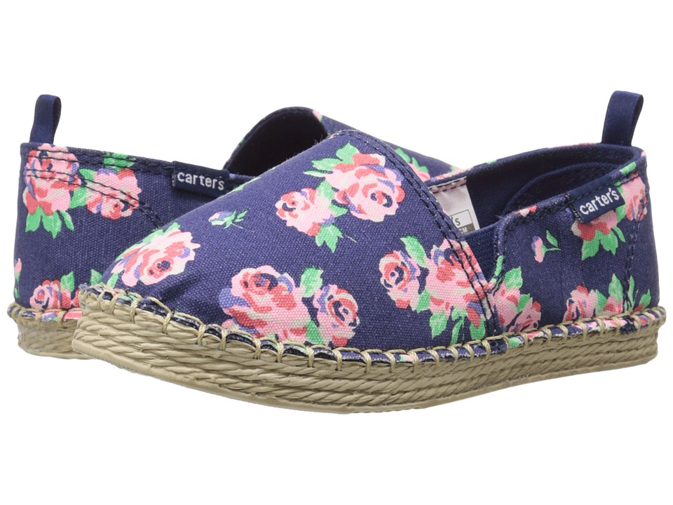 Carters - Astrid (Toddler/Little Kid) (Navy Floral) Girl's Shoes