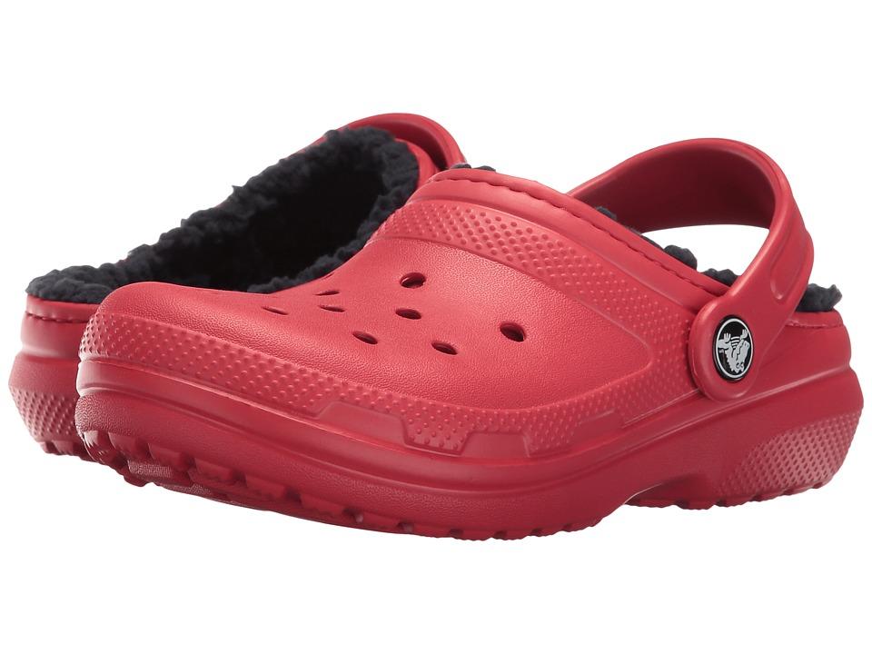 Crocs Kids - Classic Lined Clog (Toddler/Little Kid) (Pepper/Navy) Kids Shoes