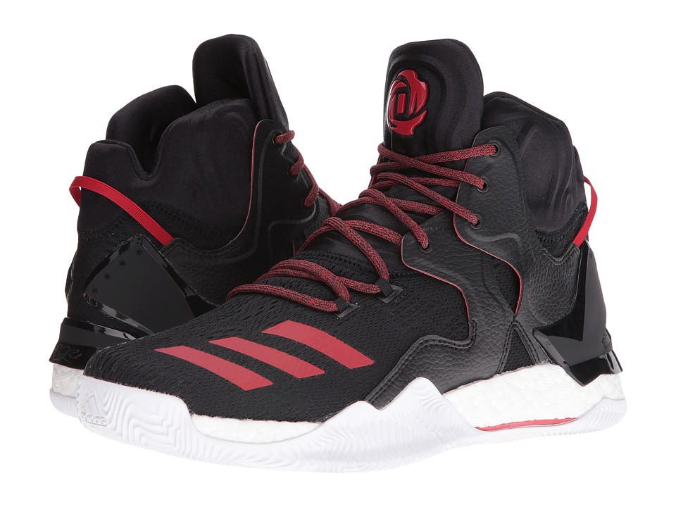 adidas - D Rose 7 (Core Black/Scarlet/Core Black) Men's Basketball Shoes