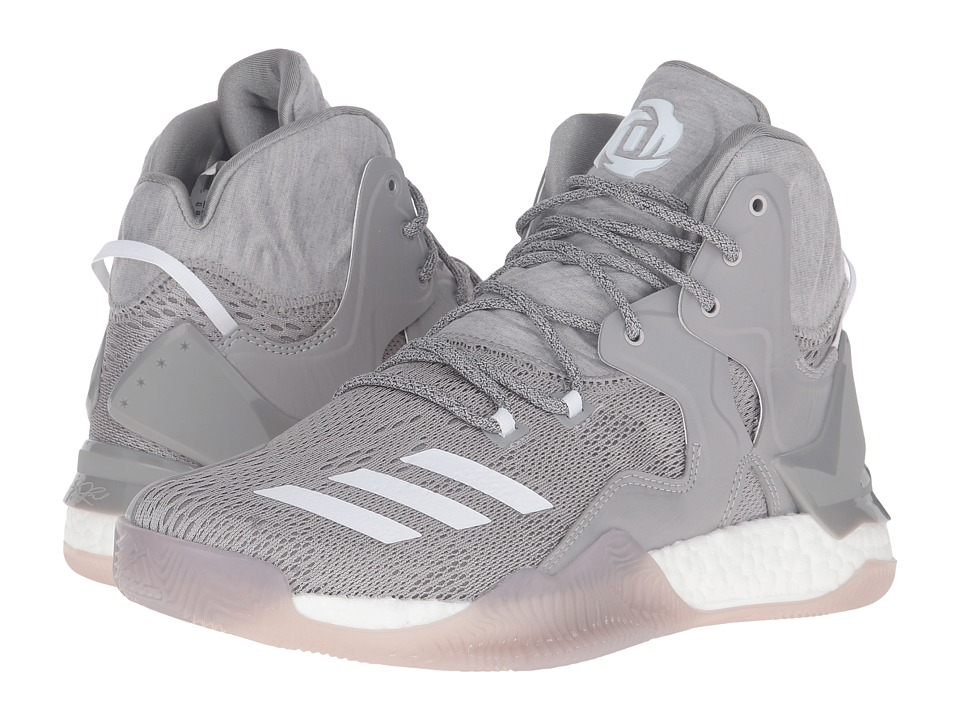 adidas D Rose 7 (Medium Grey Heather/White/MGH Solid Grey) Men