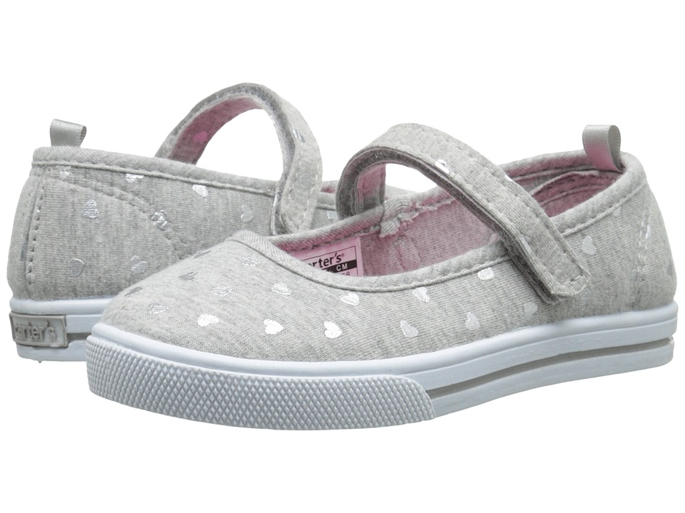 Carters - Victoria 3 (Toddler/Little Kid) (Grey/Silver) Girl's Shoes