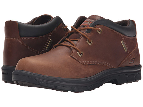 SKECHERS - Relaxed Fit Segment - Verzani (Red/Brown Leather) Men's Shoes