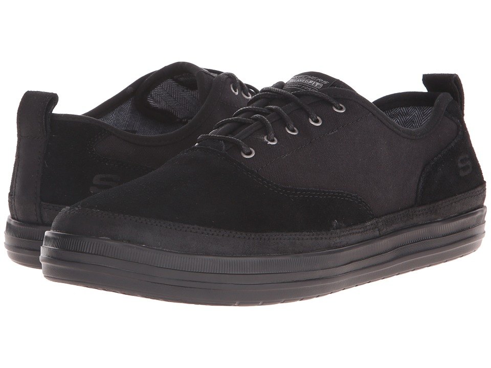 SKECHERS - Relaxed Fit Define - Gilbey (Black Suede/Canvas) Men