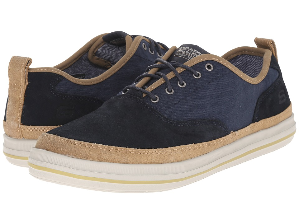 SKECHERS - Relaxed Fit Define - Gilbey (Navy Suede/Canvas) Men