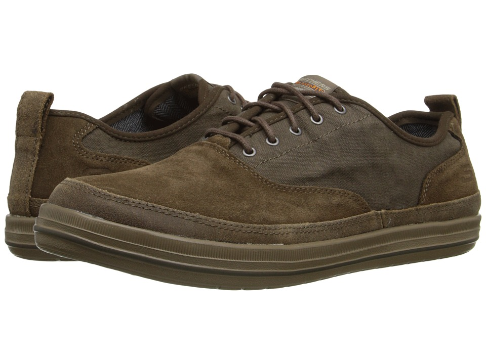 SKECHERS - Relaxed Fit Define - Gilbey (Coffee Suede/Canvas) Men's Shoes