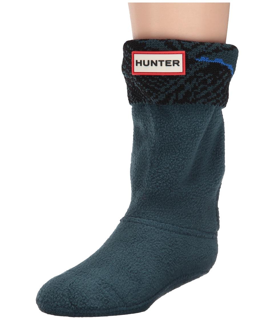 Hunter Kids - Original Buoy Print Wave Cuff Nylon (Toddler/Little Kid/Big Kid) (Ocean/Azure Wave Print) Kids Shoes