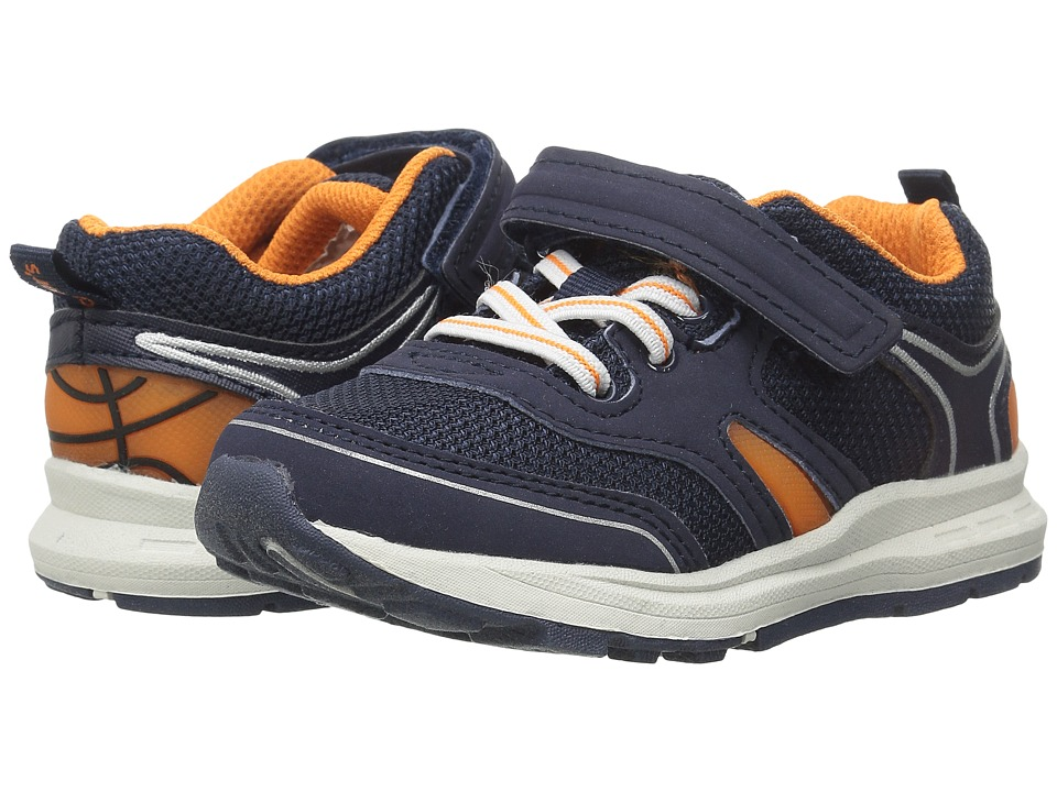 Carters - Reggie 2-B (Toddler/Little Kid) (Navy/Orange) Boys Shoes