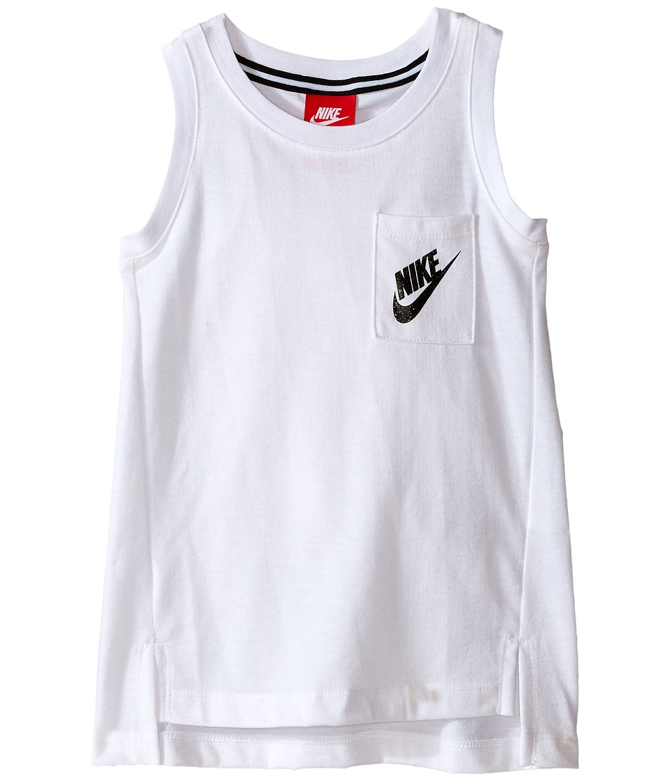 Nike Kids - Signal Tank Top (Toddler) (White) Girl's Sleeveless