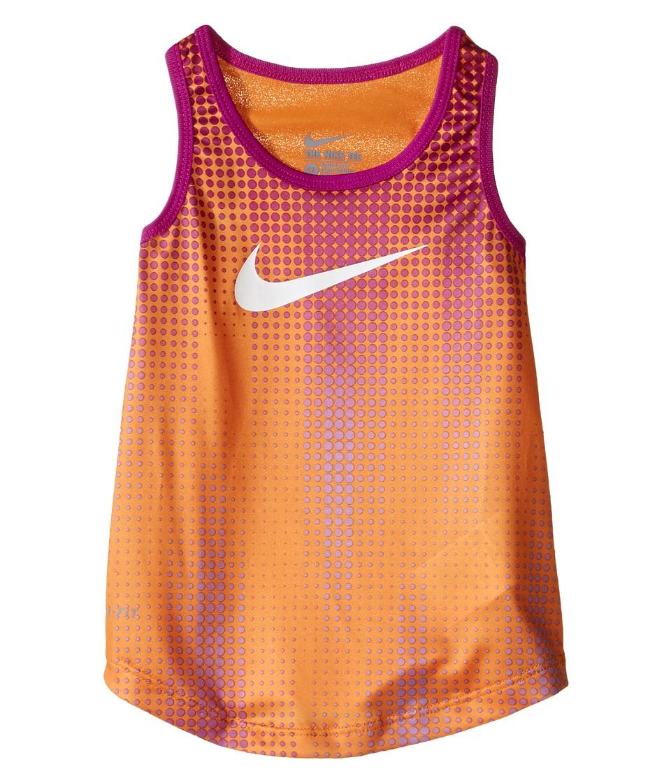 Nike Kids - Swoosh Dri-FIT A-Line Tank Top (Toddler) (Vivid Orange) Girl's Sleeveless