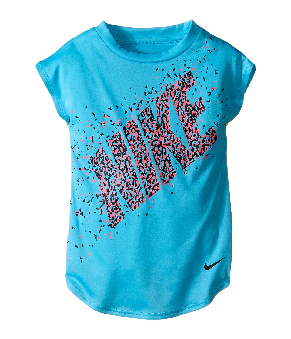 Nike Kids - Facet Dri-FIT Modern Tee (Toddler) (Gamma Blue) Girl's T Shirt