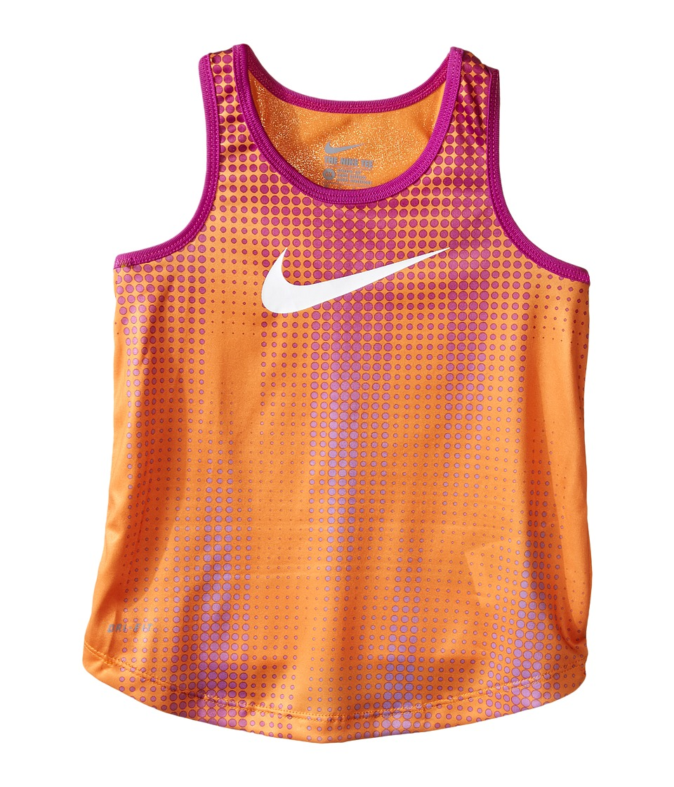 Nike Kids - Swoosh Dri-FIT A-Line Tank Top (Little Kids) (Vivid Orange) Girl's Sleeveless