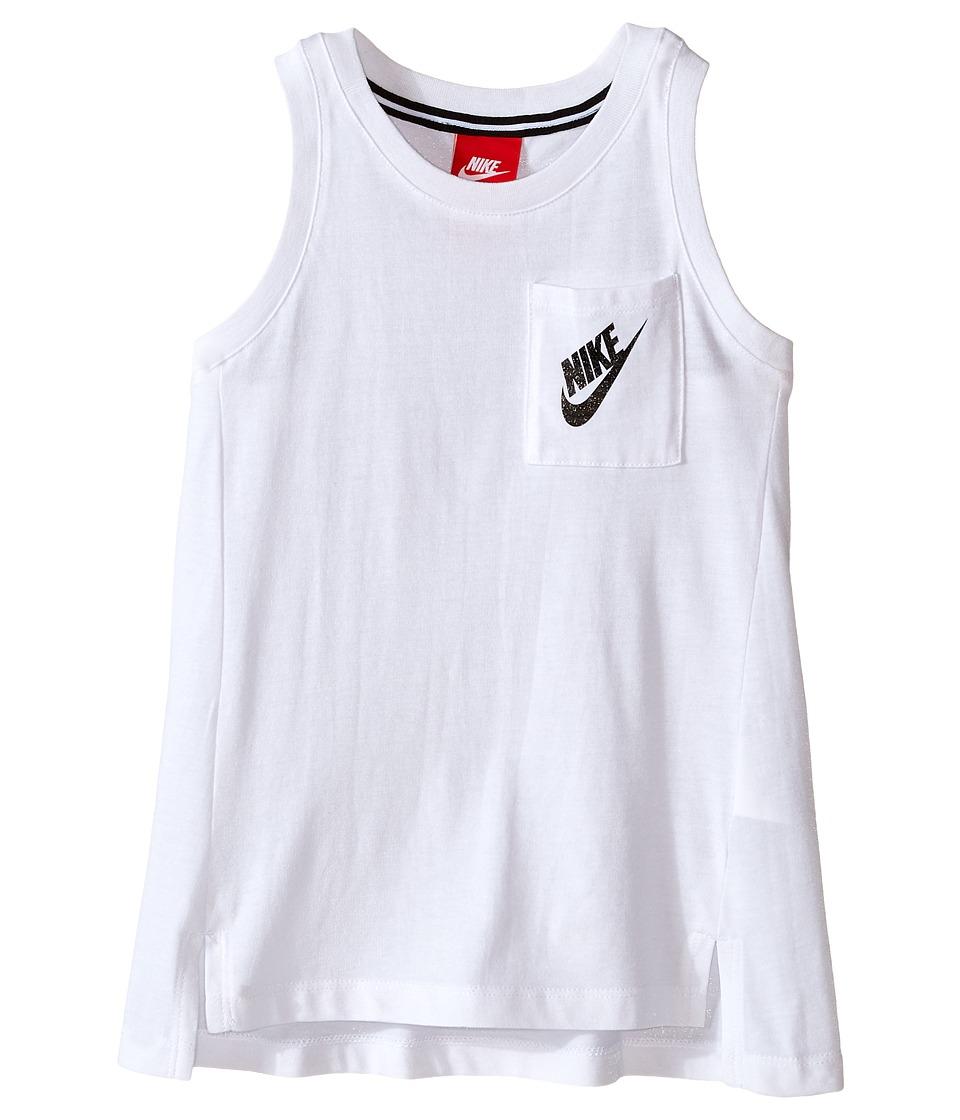 Nike Kids - Signal Tank Top (Little Kids) (White) Girl's T Shirt
