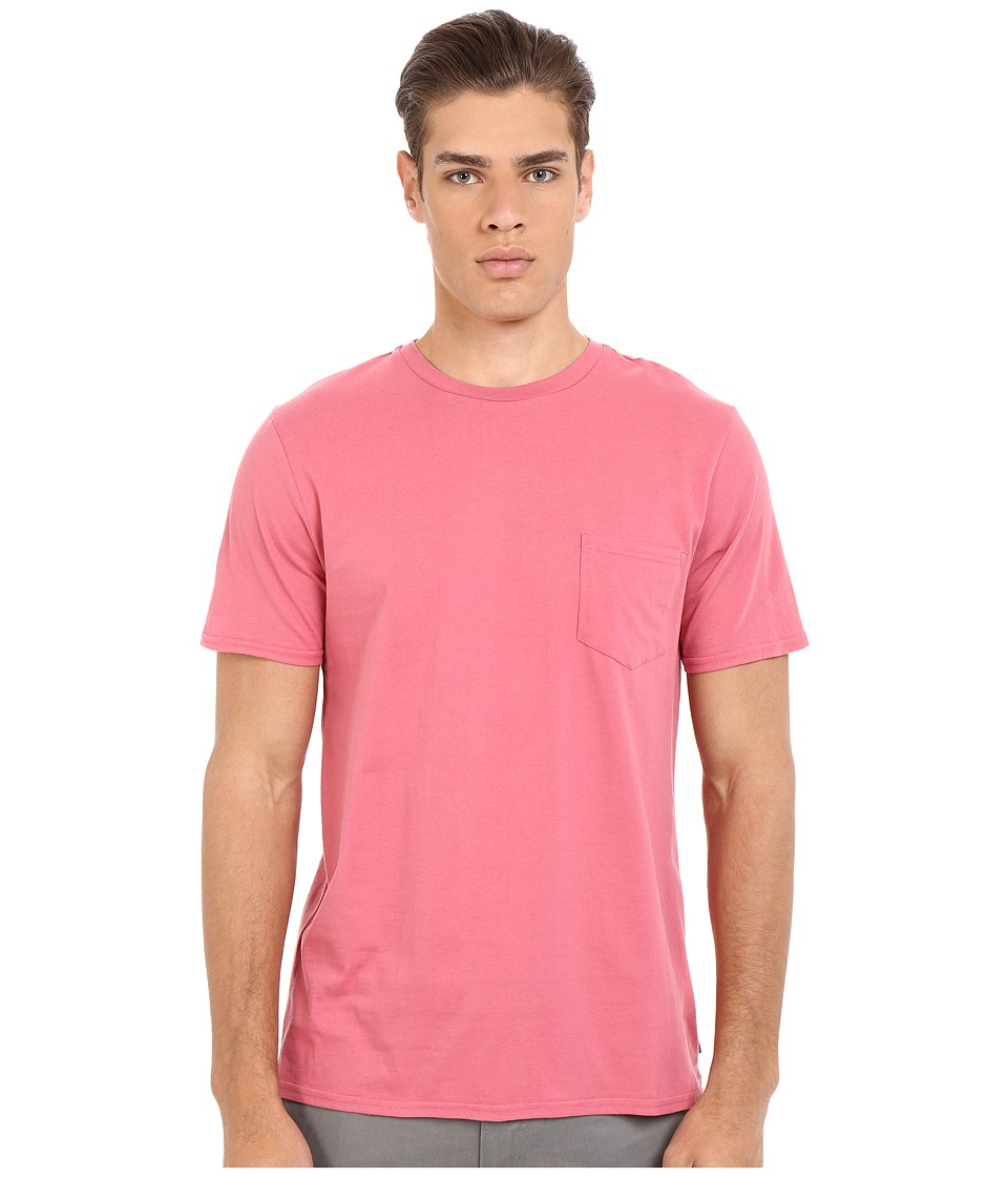 Threads 4 Thought - Baseline Pocket Crew Tee (Cranberry) Men's T Shirt