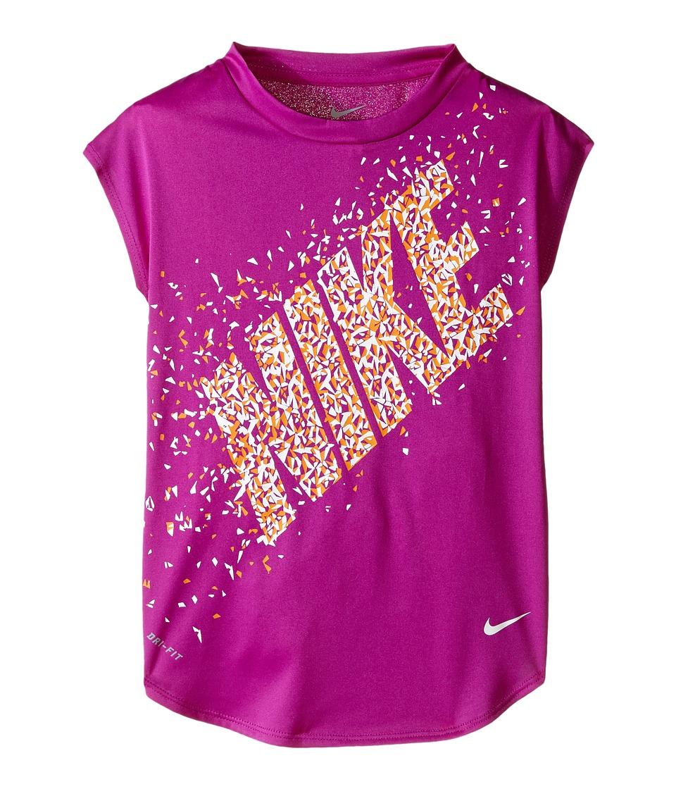 Nike Kids - Facet Dri-FIT Modern Tee (Little Kids) (Hyper Violet) Girl's T Shirt