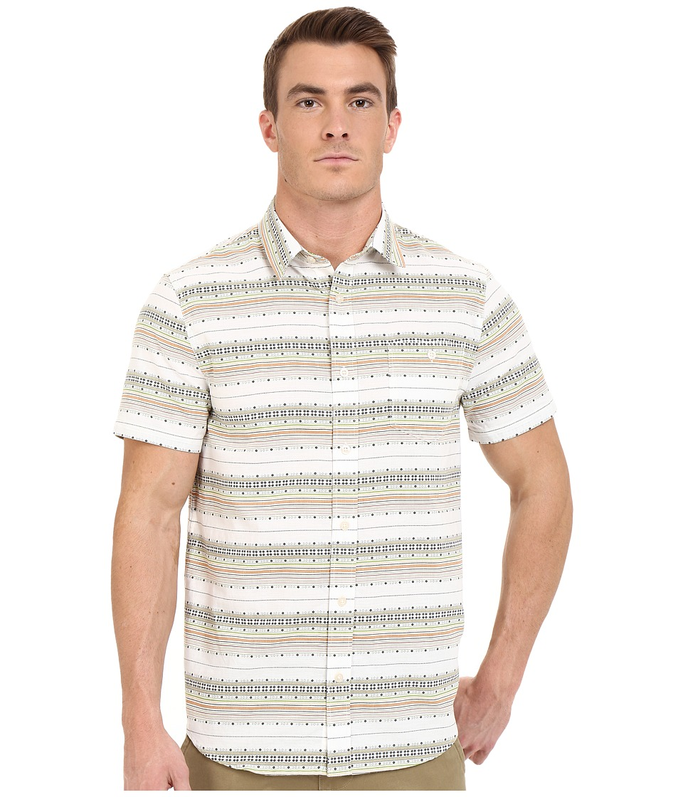 Threads 4 Thought - The Mesa Short Sleeve Woven (Multi Stripe) Men's Clothing
