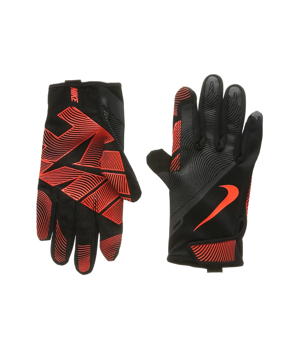 Nike - Lunatic Training Gloves (Black/Anthracite/Total Crimson) Athletic Sports Equipment
