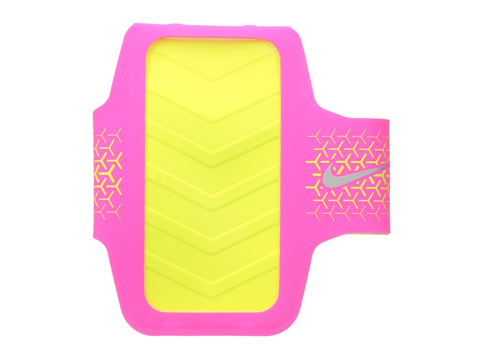 Nike - Challenger Arm Band (Hyper Pink/Volt/Silver) Athletic Sports Equipment