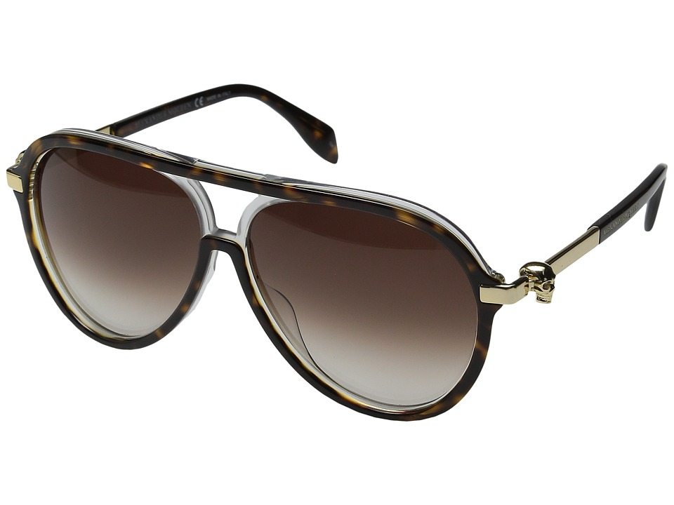 Alexander McQueen - AM0020S (Havana/Brown Gradient) Fashion Sunglasses
