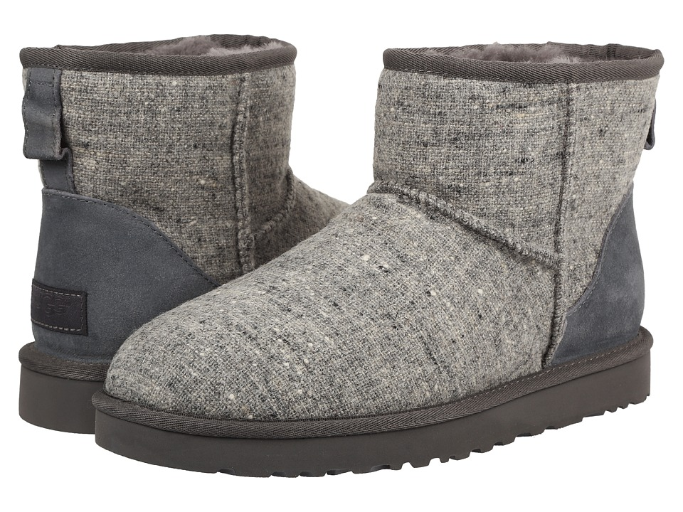 UGG - Classic Mini Donegal (Grey Donegal) Men's Boots