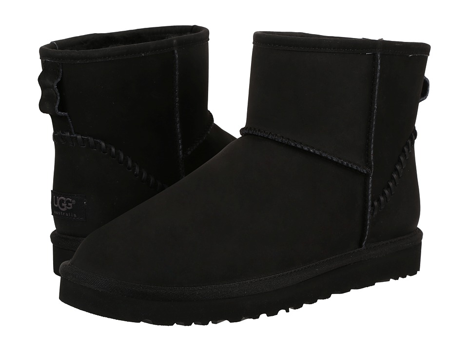 UGG - Classic Mini Deco (Black) Men's Boots