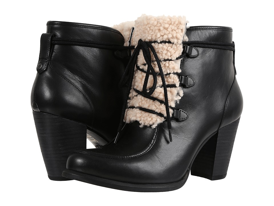 UGG Analise Exposed Fur (Black/Natural) High Heels