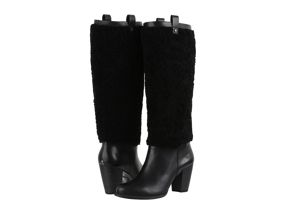 UGG - Ava Exposed Fur (Black/Black) Women's Boots