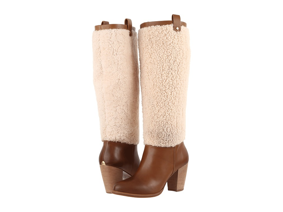 UGG Ava Exposed Fur (Chestnut/Natural) Women