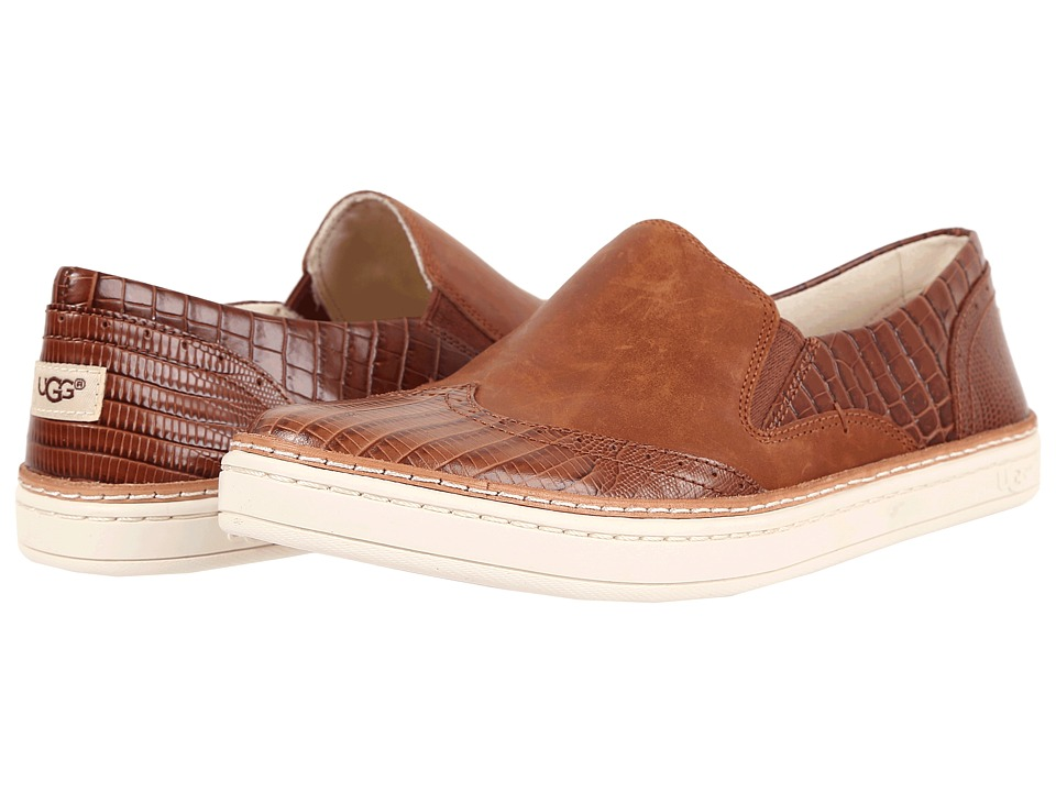 UGG - Hadria Croco (Spice) Women's Slip on Shoes