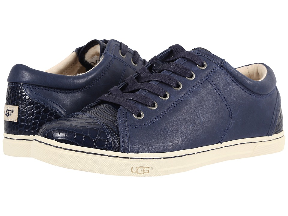 UGG - Taya Croco (Navy) Women's Lace up casual Shoes
