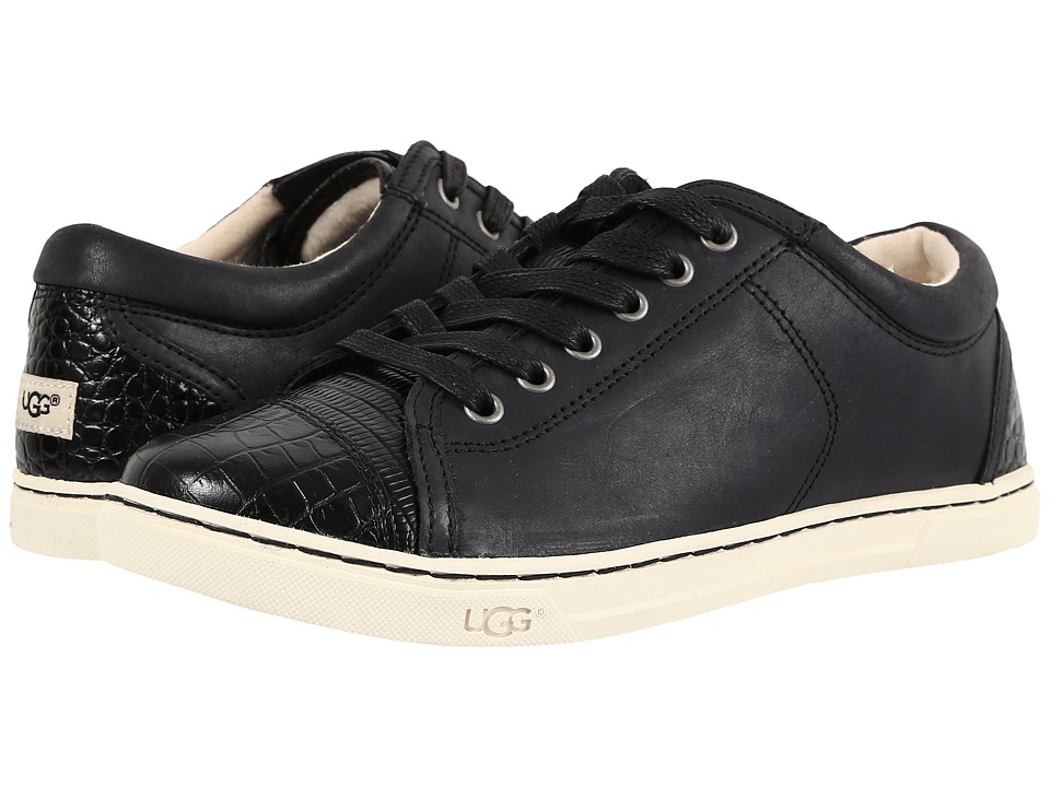 UGG - Taya Croco (Black) Women's Lace up casual Shoes