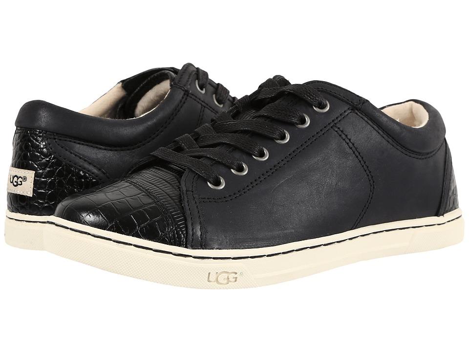 UGG - Taya Croco (Black) Women's Lace up casual Shoes