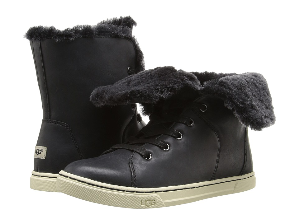 UGG - Croft Luxe Quilt (Black) Women's Lace up casual Shoes