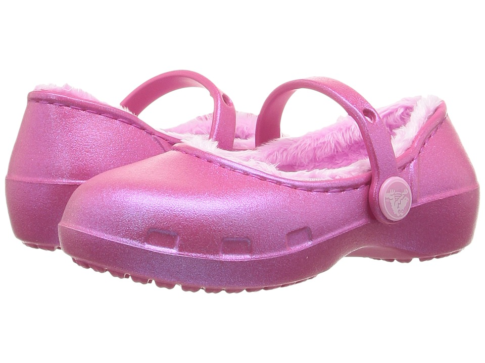 Crocs Kids - Karin Lined Clog (Toddler/Little Kid) (Party Pink) Girls Shoes