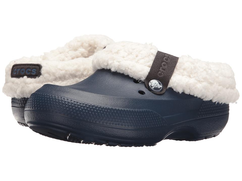 Crocs Kids - Classic Blitzen II Clog (Toddler/Little Kid) (Navy/Oatmeal) Kids Shoes