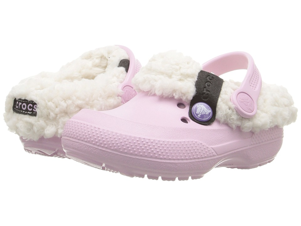 Crocs Kids - Classic Blitzen II Clog (Toddler/Little Kid) (Balleria Pink/Stucco) Girls Shoes