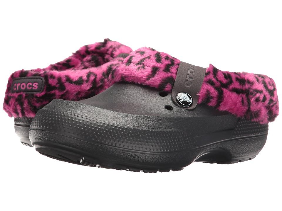 Crocs Kids - Classic Blitzen II Clog (Toddler/Little Kid) (Leopard/Black) Girls Shoes
