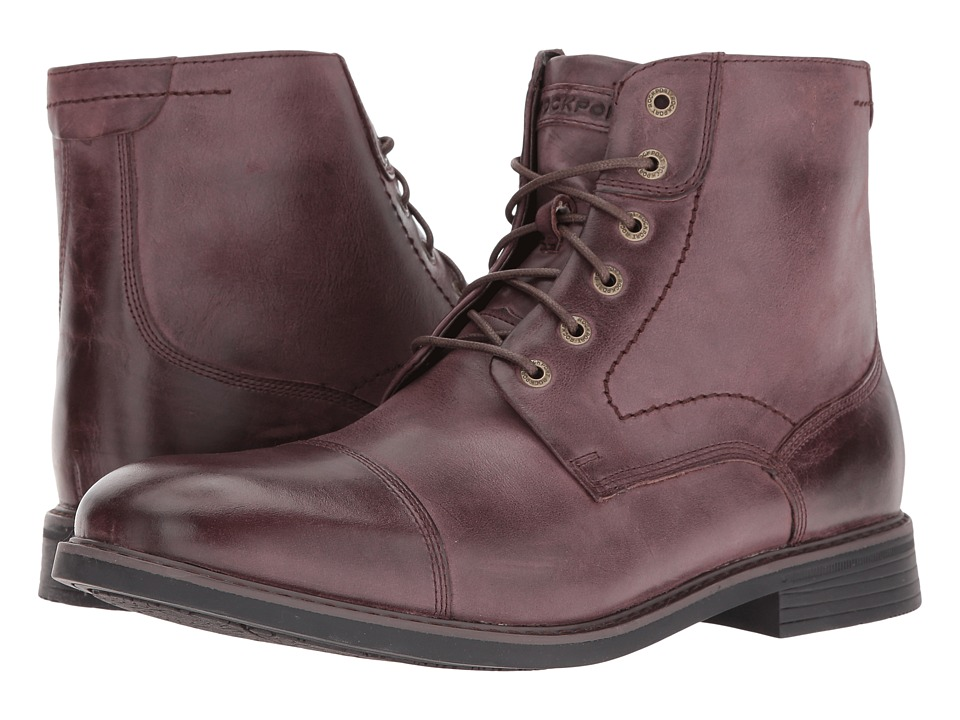 Rockport Classic Break Cap Toe Zip Boot (Chocolate) Men's Lace-up Boots