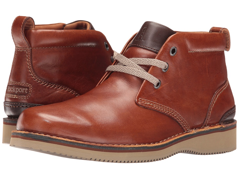 Rockport - Prestige Point Chukka (Tan) Men's Lace-up Boots