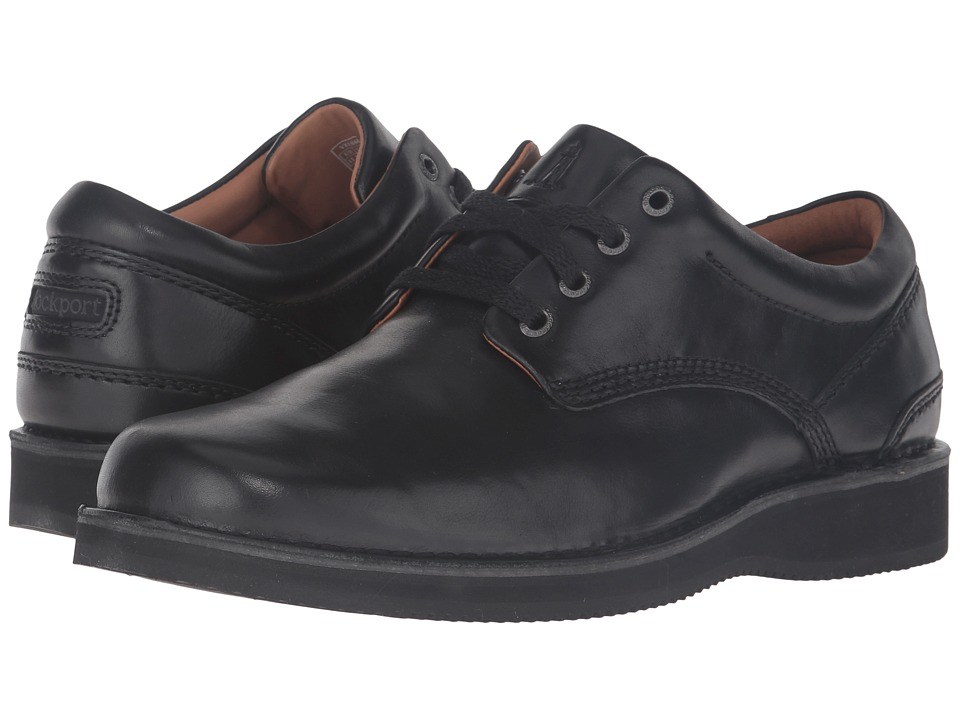 Rockport - Prestige Point Plaintoe Oxford (Black) Men's Lace up casual Shoes