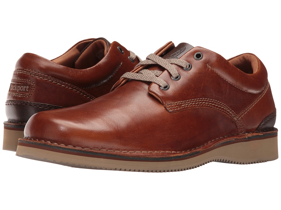 Rockport Prestige Point Plaintoe Oxford (Tan 2) Men
